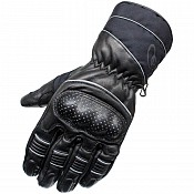 BLK Vector Waterproof Leather mc handskar