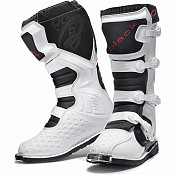 BLK MX Enigma White Motocross Boots (CE Level 2 Certified) 5225 cross stövlar