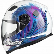 Shox Sniper Peacock Motorcycle BLUEPINK 130970303 MC HJÄLM