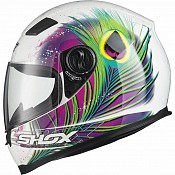 Shox Sniper Peacock Motorcycle PINKYELLOW 130971203 MC HJÄLM
