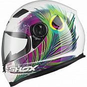 Shox Sniper Peacock Motorcycle PINKYELLOW 130971203 MC HJÄLM