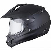 THH TX-13 Plain Dual Sport Matt black 112363003 crosshjälm