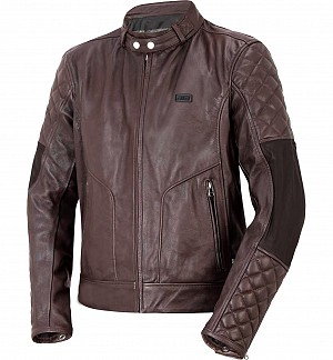 ATA VINTAGE BROWN LEATHER MC JACKA  20004