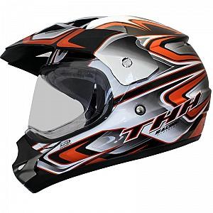 THH TX-13 #3 Dual Sport BlackOrange cross hjälm