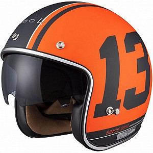 Limited Edition Black 13 Matt Orange 5180-3003 mc hjälm