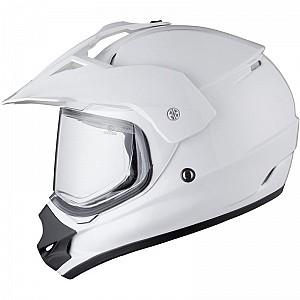 THH TX-13 Plain Dual Sport White 112361003 crosshjälm