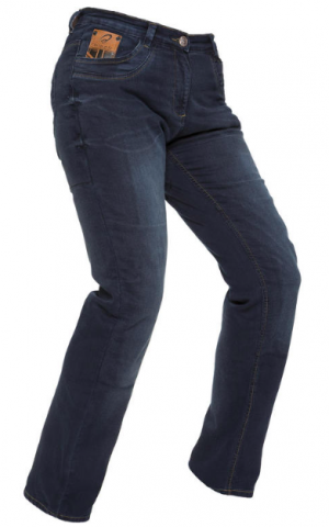 LADY BLACK SALUS MC KEVLAR JEANS BYXA BLUE