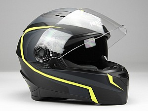 BNO INTEGRAL SUNVISOR BLACK YELLOW Mc hjälm