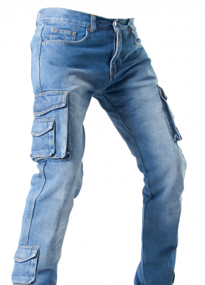 DENIM SIDEPOCKET RANGER KEVLAR SKYBLUE MC BYXA   RSBS-909
