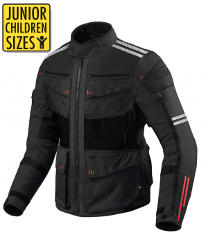 JUNIOR / KID ROADWAY 365 TOURING BLACK ALLVÄDER MC JACKA