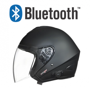 BLUETOOTH MATT BLACK RS730 JET MC HJÄLM