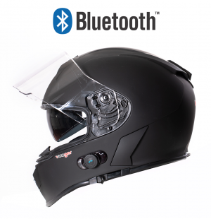 BLUETOOTH MATT BLACK RT770 MC HJÄLM