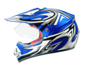 RX962 QUAD ENDURO BLUE V cross hjälm