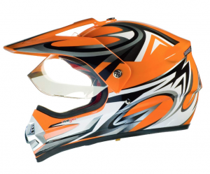 RX962 QUAD ENDURO ORANGE V cross hjälm