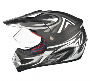 RX962 QUAD ENDURO BLACK V cross hjälm