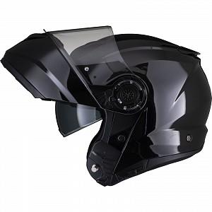 Black Optimus II Flip Front Gloss Black 53071503 Öppningsbar mc hjälm