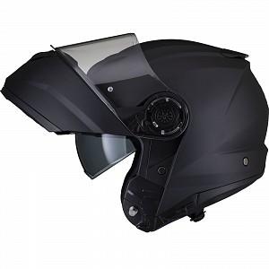Black Optimus II Flip Front Matt Black 53073503 Öppningsbar mc hjälm