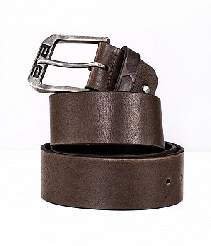 ATA LEATHER BELT BROWN MC SKINN BÄLTE