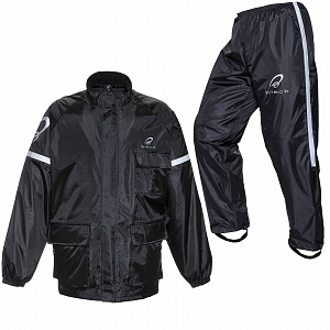 BLACK REGNSTÄLL MC 2-PIECE  RAINPROOF    (BLACK SPECTRE KIT BLACK)