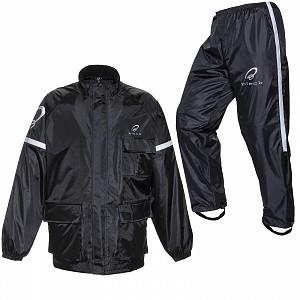 BLACK Regnställ MC 2-delat Rainproof