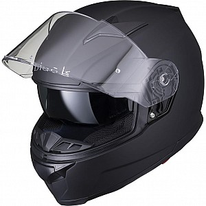 BLACK APEX FULL FACE Motorcycle Helmet MATT BLACK SOLVISIR 53053503 MC HJÄLM