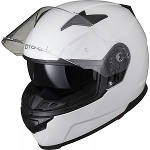 BLACK APEX FULL FACE Motorcycle Helmet GLOSS WHITE SOLVISIR 53050503 MC HJÄLM