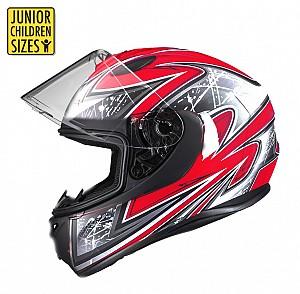 SA03 Junior Red shiny mc hjälm
