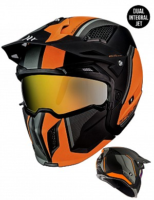 MT STREETFIGHTER MATT ORANGE MC / CROSS HJÄLM 1272613243