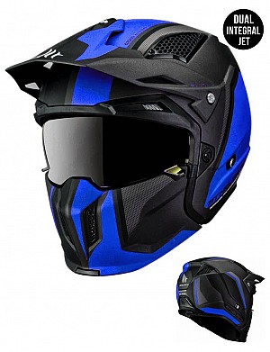 MT STREETFIGHTER SV TWIN C7 BLUEBLACK MATT MC / CROSS HJÄLM