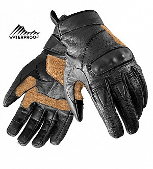 ARTERY RETRO BLACK TOURING VINTAGE WATERPROOF MC HANDSKAR