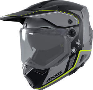 AXXIS MX803DS WOLF DS ROADRUNNER B2 GRIS BRILLO CROSS HJÄLM