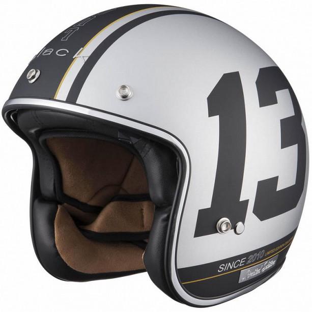 Limited Edition Black 13 Matt Silver 5180-3003 mc hjälm - Sharkspeed 6d743785083bb